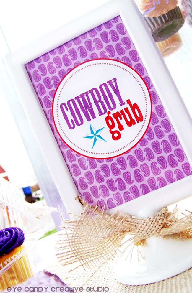 cowboy grub, party sign for cowboy party, cowboy birthday party