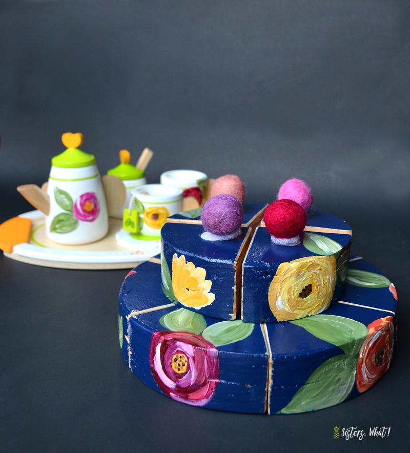 DIY play tea party set