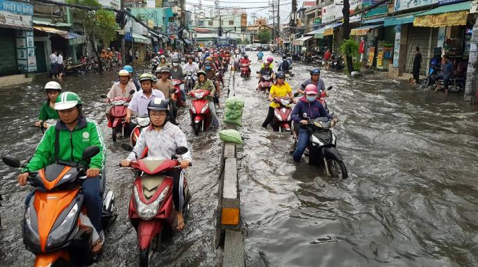 Khi Sài Gòn 'tụ nước'
