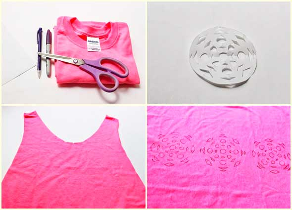 camisetas, mandalas, dibujos, diy, refashion, bricomoda, customizar