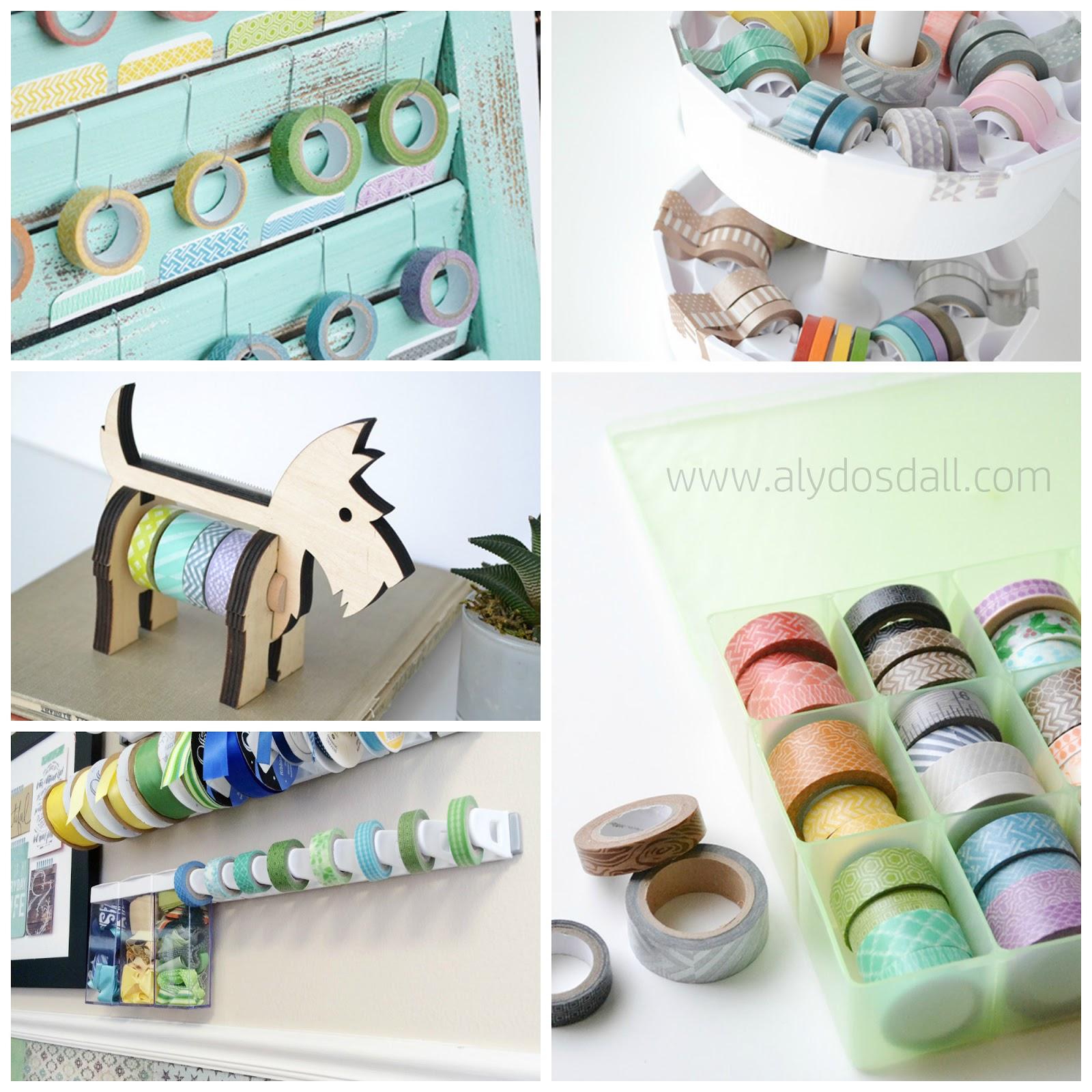 Washi Tape Ideas: Aly Dosdall: 5 Washi Tape Storage Ideas