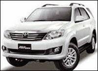 Rental Mobil Fortuner Padang