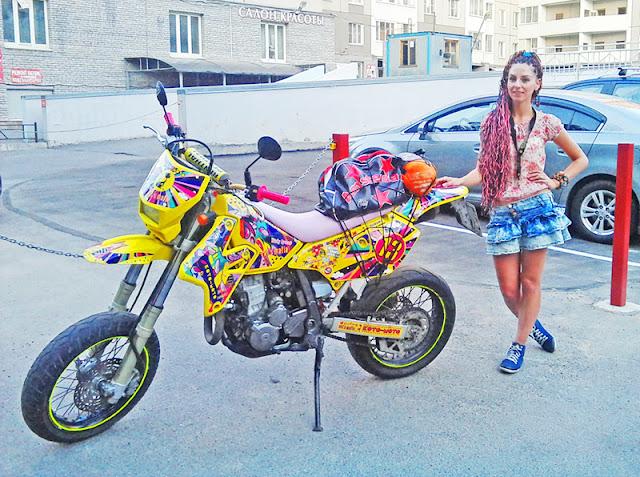 Soviet Supermoto Girl