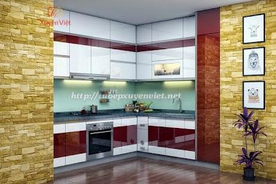 Tủ bếp nhựa cao cấp cho nhà chung cư
