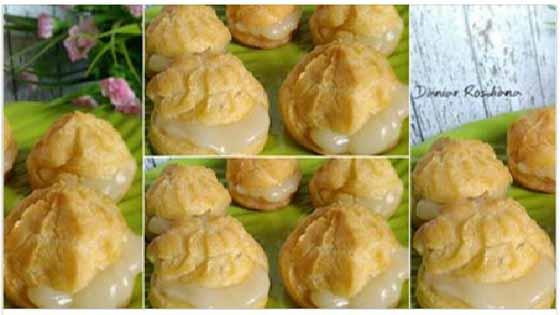 Resep Membuat Kue Sus yang Empuk Renyah dan Lumer di Mulut yang di Toko-toko Mah Lewat !!
