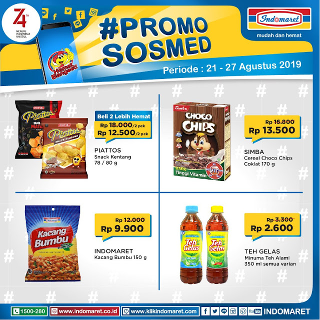 #Indomaret - #Promo Katalog SOSMED Periode 21 - 27 Agustus 2019