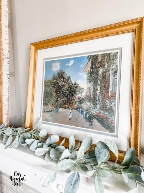 gilded frame Monet Argenteuil oil painting
