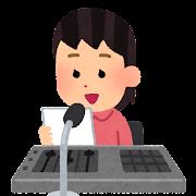 放送委員のイラスト(女の子)