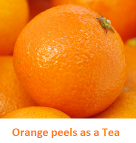 Orange peels as a Tea - Oranges citrus fruit peel (Santre Ke Chilke)
