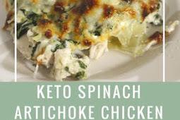 Keto Spinach Artichoke Chicken