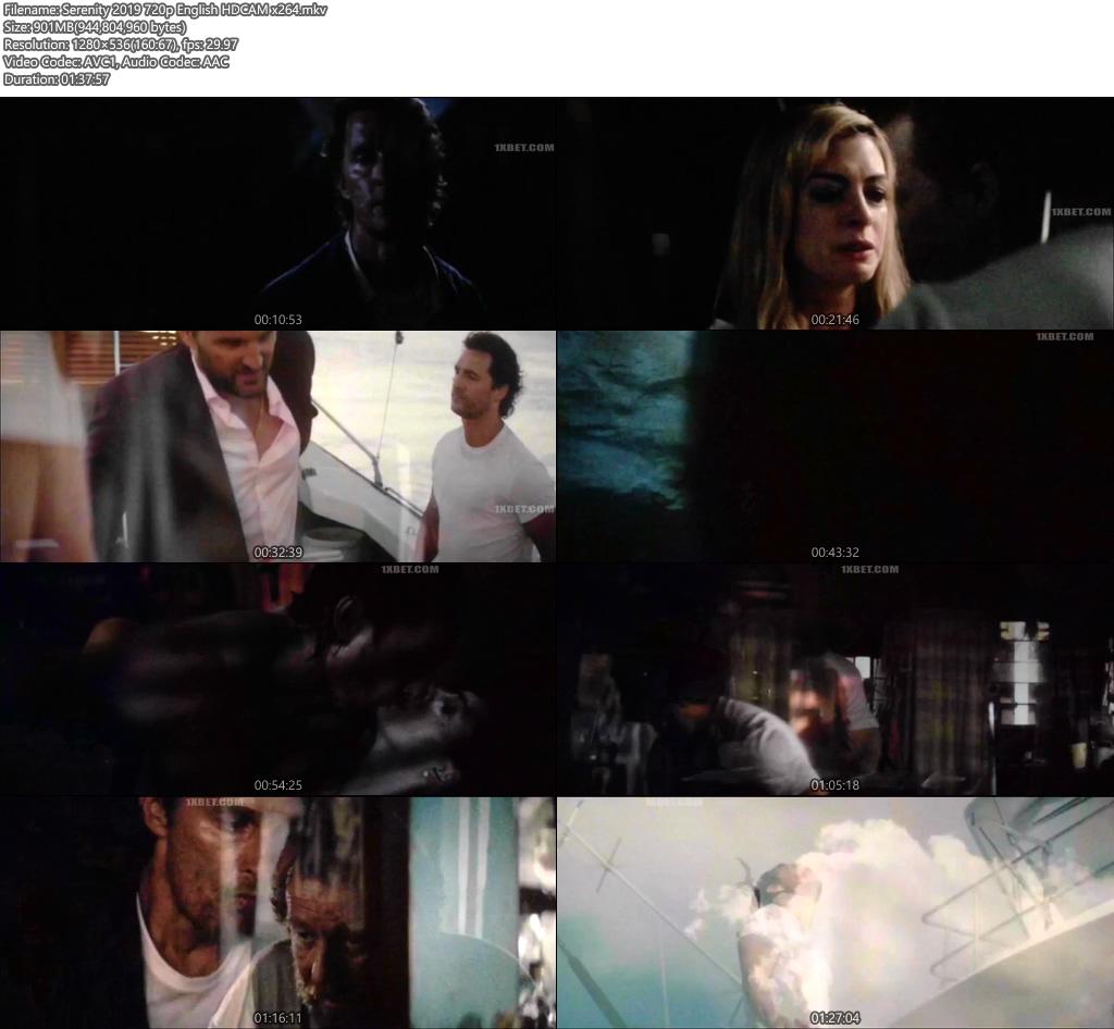 Serenity 2019 720p English HDCAM x264   480p 300MB   100MB HEVC Screenshot