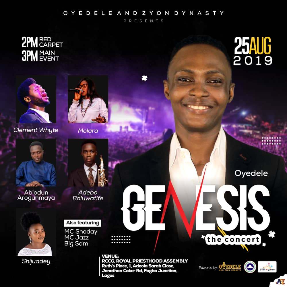 """Event: Genesis """"The Concert"""" with Oyedele and Zyon dynasty"""