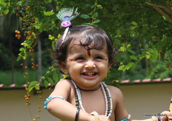 krishna makeup for little babies