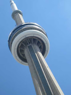 Looking Upwards At CN Tower Toronto