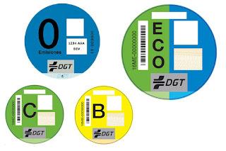 Etiquetas ambientales DGT: clasificación y colores - Fénix Directo Seguros