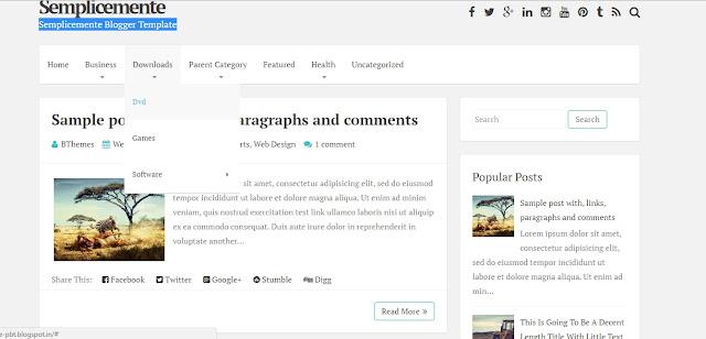 Semplicemente Blogger Template