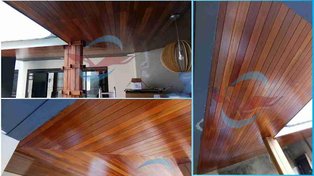 project pemasangan plafon kayu ulin