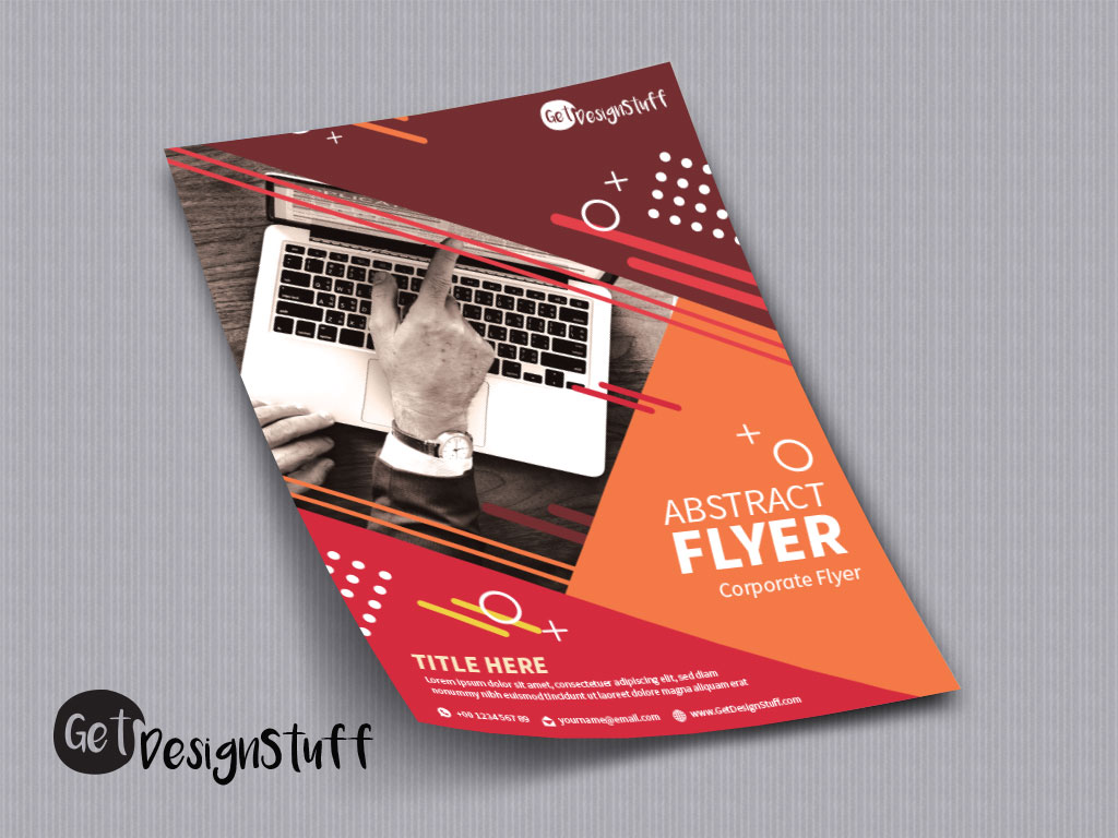 Download Abstract Corporate Flyer Illustrator CS6 Template