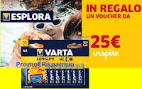 Logo Varta : in regalo sicuro un buono da 25€ per la tua vacanza