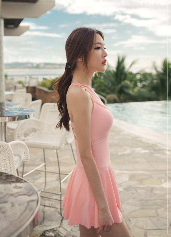 Korean model fashion - Park Jeong Yoon - Amanda One Piece Swimsuit - Picture 7