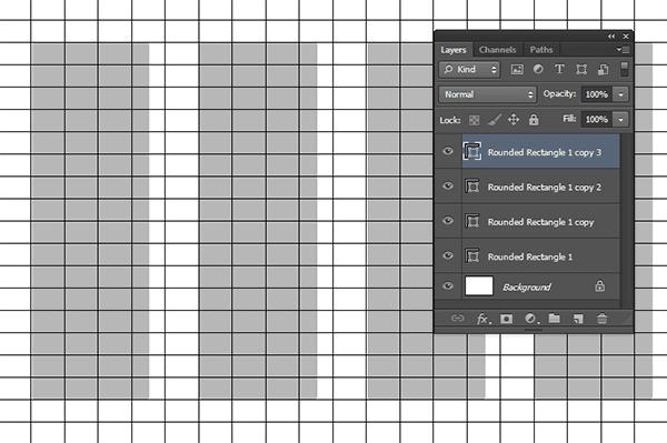 Buat shape lainnya. Akan terbentuk sebuah layer untuk masing-masing shape.