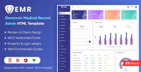 Best Electronic Medical Record Admin Template