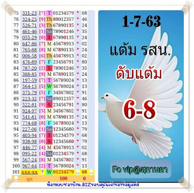 Thailand Lottery 3up Non Miss Cut Digit And Down Tf Taas 01 July 2020