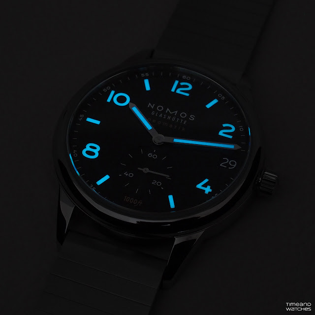 Lumeshot of the Nomos Glashütte Club Sport