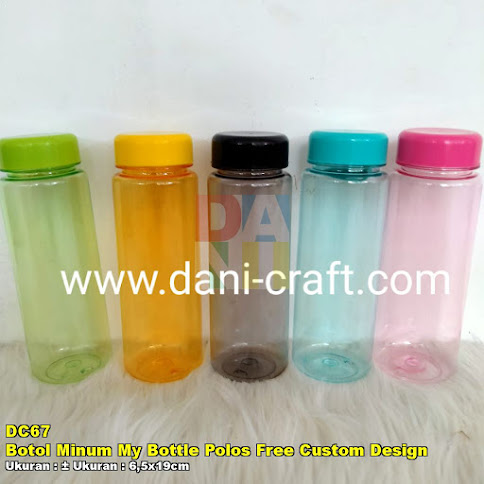 Botol Minum My Bottle Polos Free Custom Design