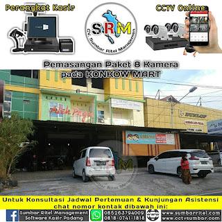 Instalasi CCTV Online pada KONKOW MART - CAFE ATEH PAGU