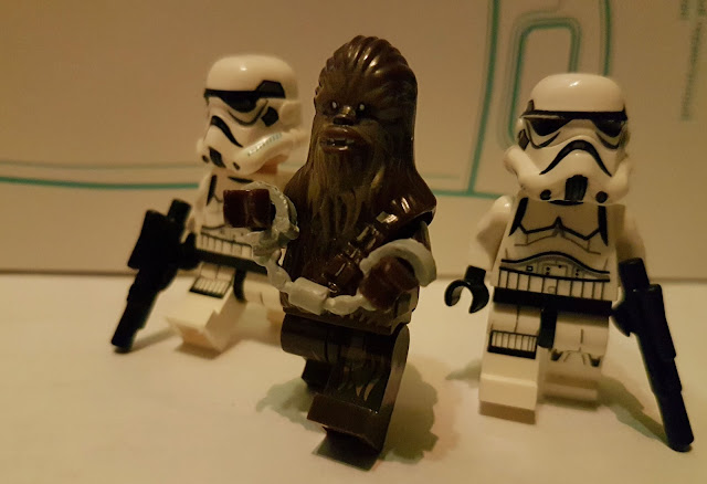 Chewbacca and stormtroopers, Death Star, A New Hope, Star Wars