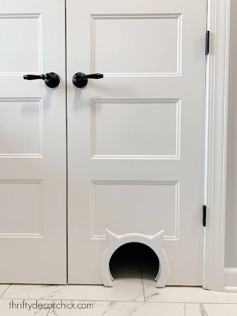 Adding cat door to closet door