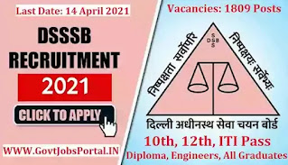 DSSSB Exam Notification 2021