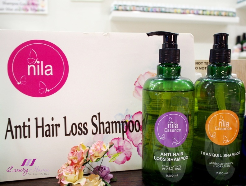 nila anti hair loss shampoo tranquil body wash