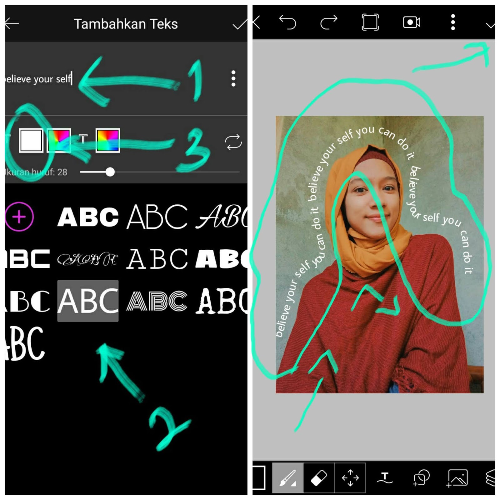 Cara Edit Foto Tulisan Aesthetic Untuk Instagram Picsart Tutorial Tutorialduaenam