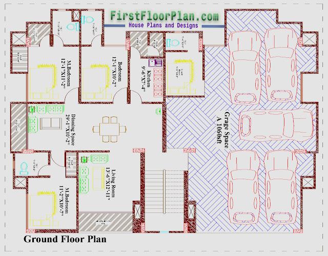 Apartment Building Ground Floor Plan, 80 x 75 floor plan, ground floor plan