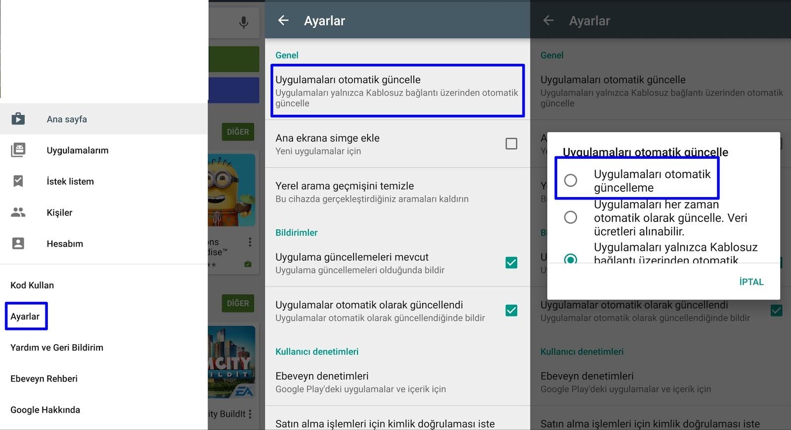 iphone 6 Plus yazılım güncelleme kapatma