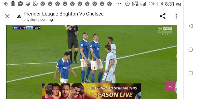 ⚽⚽⚽⚽ Premier League Brighton Vs Chelsea ⚽⚽⚽⚽