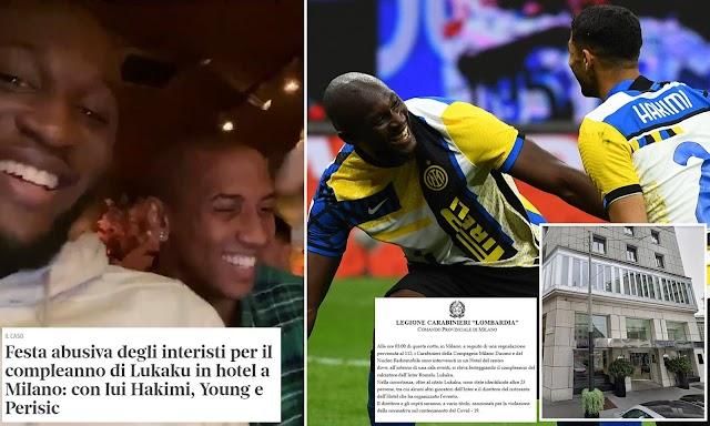 Lukaku fined by italian police for birthday celebrations in Milan hotel