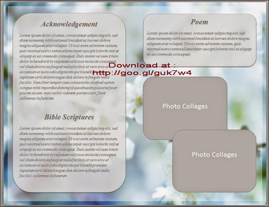 funeral program template free microsoft word - Pinarkubkireklamowe