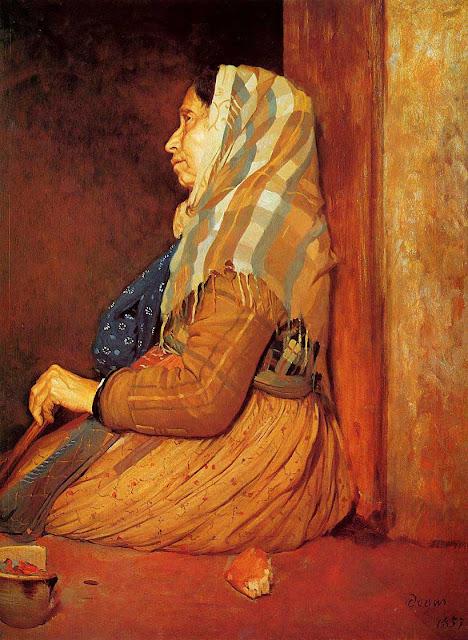 Эдгар Дега - Римская нищенка (1857)