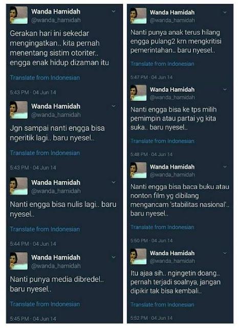 Cuitan Wanda Hamidah Dulu
