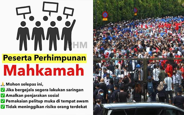 Public Health Malaysia Merasakan Kesedihan Dan Kekecewaan Atas Peserta Perhimpunan Mahkamah