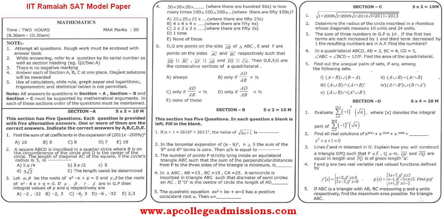 Sat question paper pdf - Model/Previous Question Papers - SAT (2019