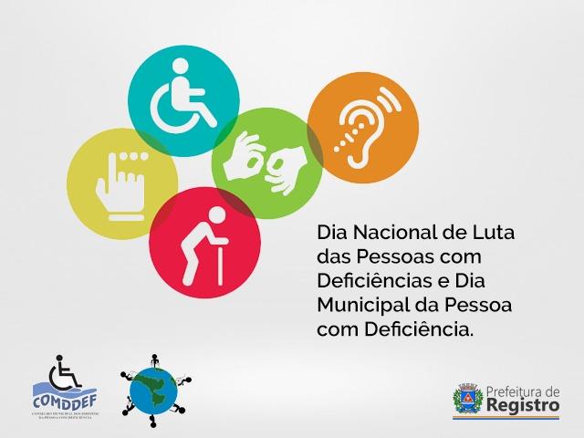 21 de Setembro: Dia Nacional e Municipal de Luta da Pessoa com Deficiência