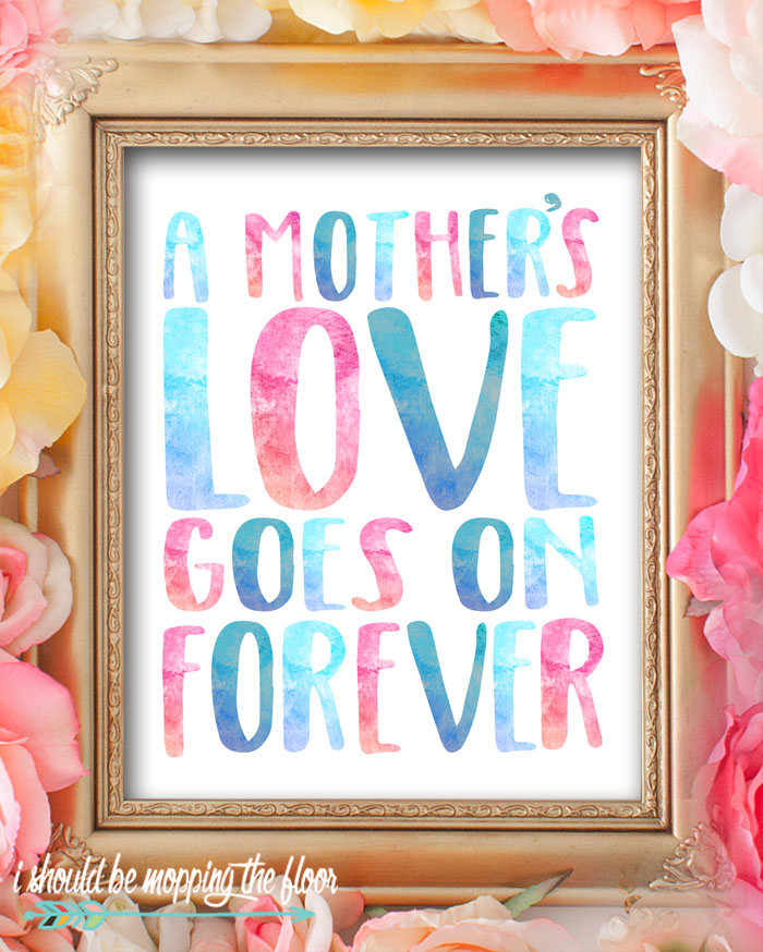 These eight lovely watercolor Mother's Day Printables are perfect for decorating or giving. These lovely 8x10 printables sure to bring a smile to any mom's face!