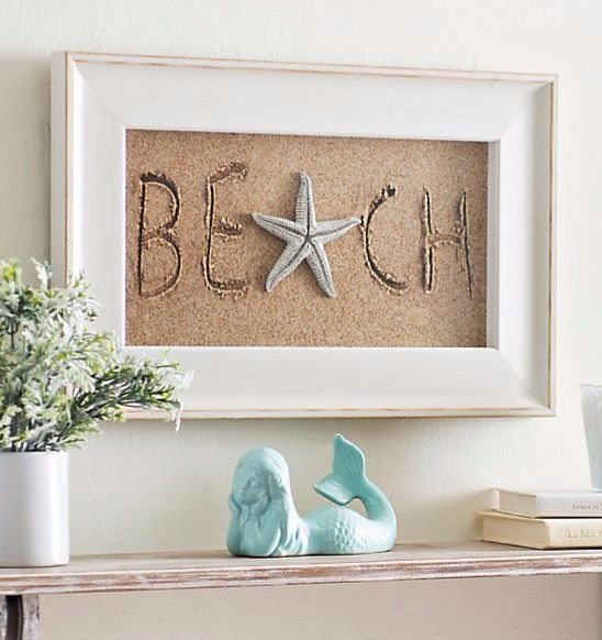 Beach Sand Writing Photo Shadow Box
