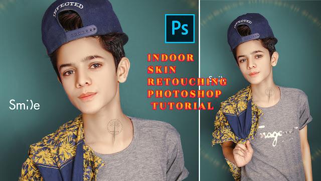Indoor Skin Retouching Photoshop Tutorial | Photoshop Indoor Editing Background | One Click Editing