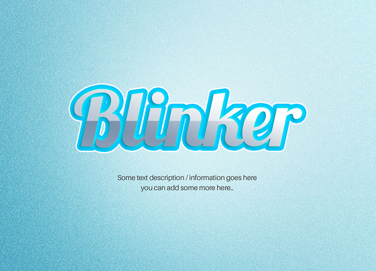 Inset Shiny Text Effect PSD