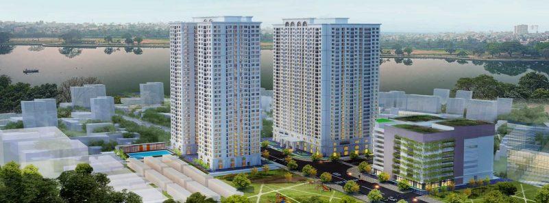Phối cảnh chung cư ICID Complex Lê Trọng Tấn